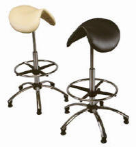 High-Rise ergonomic seating ideal as a laboratory stool, veterinary stool or draughting chair