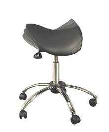 tilting saddle seat